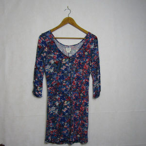 Intimately Free People Floral Dress Size M Blue